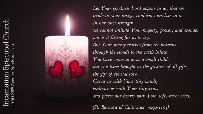 lighted candle and quotation